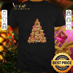 Cheap Goldendoodle dog lights Christmas Tree shirt