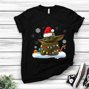 Christmas Santa Baby Yoda Christmas Light shirt