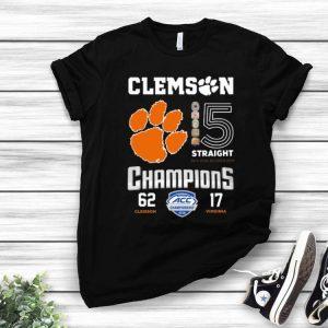 Clemson Tigers 15 Straight Champions 62 Clemson 17 Virginia shirt