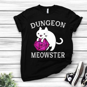 Dungeon Meowster Nerdy Gamer D20 RPG Cat Lover shirt