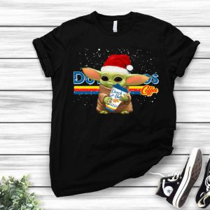 Dutch Bros Coffee Santa Baby Yoda Merry Christmas shirt