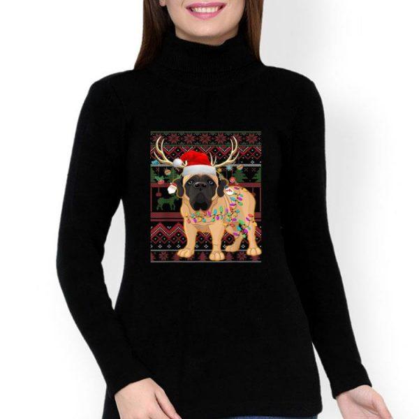 English Mastiff Reindeer Christmas Light Ugly Christmas shirt