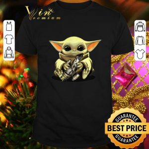 Funny Baby Yoda hug Combat Aircrafts Star Wars shirt