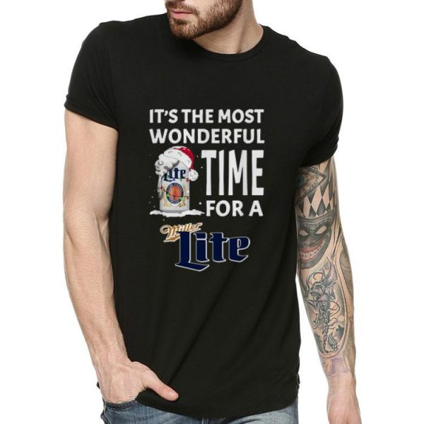 It's The Most Wonderful Time For A Miller Lite Christmas shirt