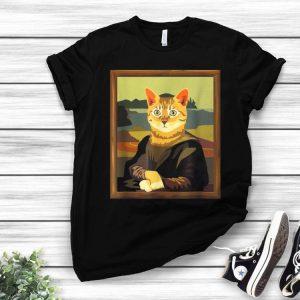 Meowna Mona Lisa Art Cat Parody Cat Lovers shirt