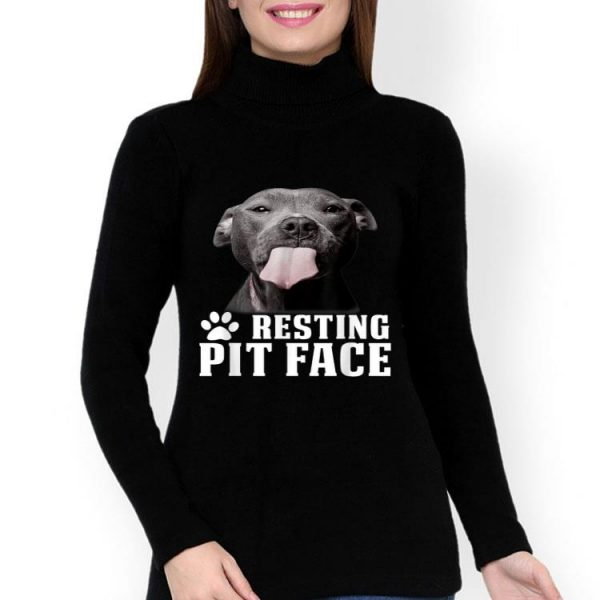 Pitbull Resting Pit Face Dog Lover shirt