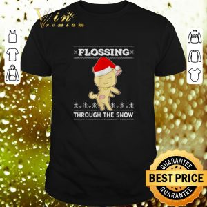 Premium Cat Flossing through the snow ugly Christmas sweater