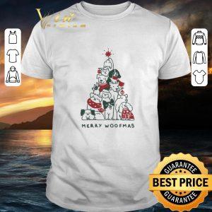 Premium Christmas Merry Woofmas dog tree shirt