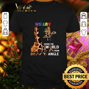 Premium Giraffe Autism seeing the world from different angle shirt