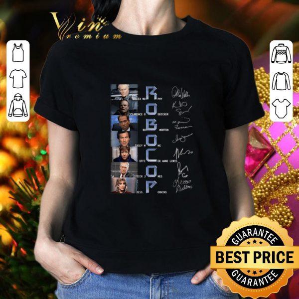 Premium RoboCop characters signatures shirt