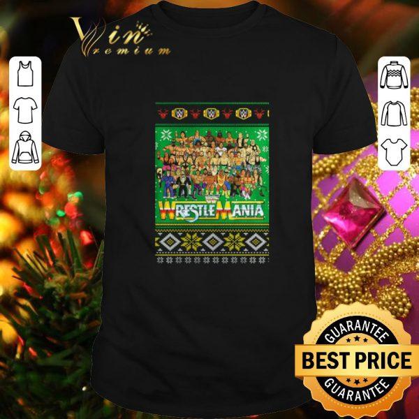 Premium WrestleMania 3D ugly Christmas sweater