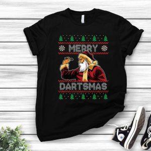 Santa Plays Darts Merry Dartsmas Ugly Christmas shirt