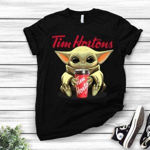 Star Wars Baby Yoda Hug Tim Hortons shirt