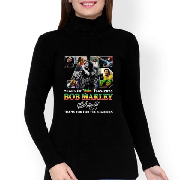 75 Years Of Bob Marley Thank You For The Memories Signature shirt