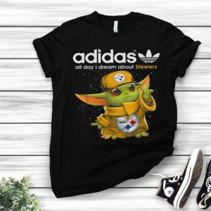 Baby Yoda Adidas All Day I Dream About Steelers shirt