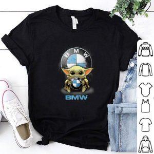 Baby Yoda hug BMW Star Wars Mandalorian shirt