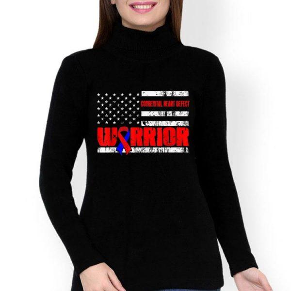 Congenital Heart Defect Warrior Awareness USA Flag shirt