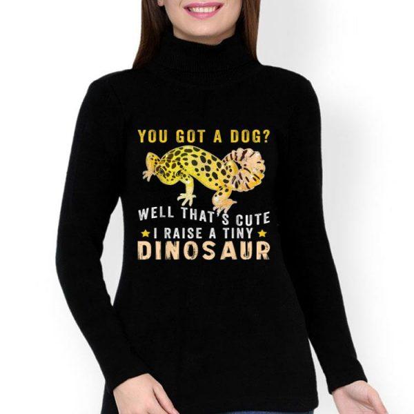 Lizard Lover I Raise A Tiny Dinosaur shirt