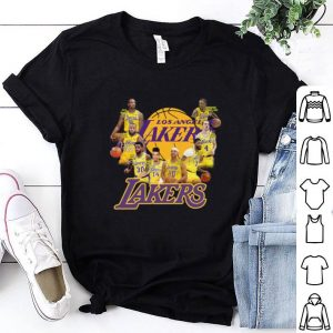 Los Angeles Lakers team players all signature shirt