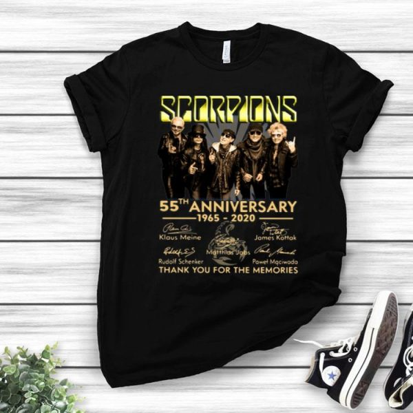 Scorpions 55th Anniversary Signatures Thank You For The Memories shirt