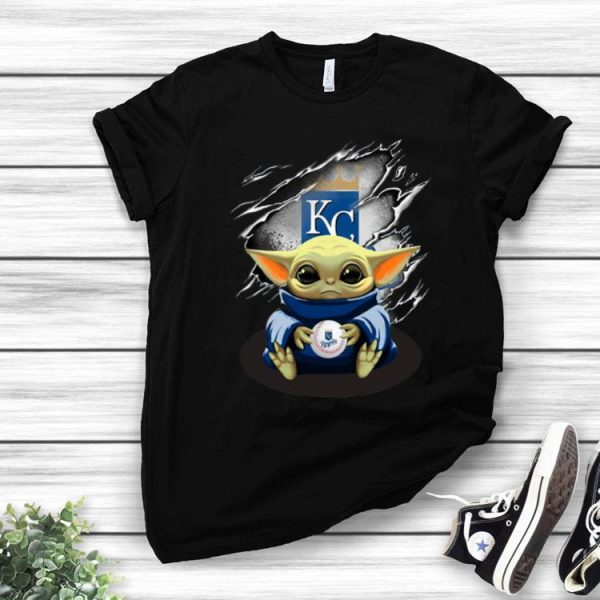 Star Wars Baby Yoda Blood Inside Kansas City Royals shirt