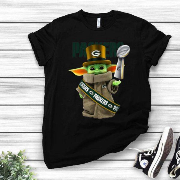 Star Wars Baby Yoda Green Bay Packer Cup shirt