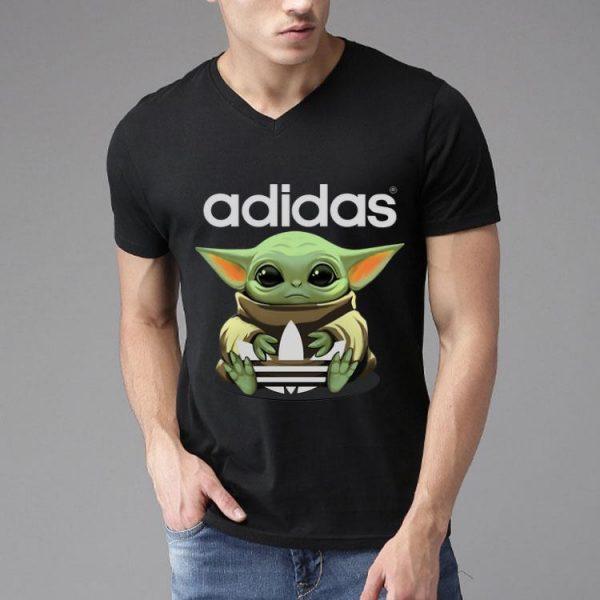 Star Wars Baby Yoda Hug Adidas shirt