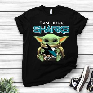 Star Wars Baby Yoda Hug San Jose Sharks shirt