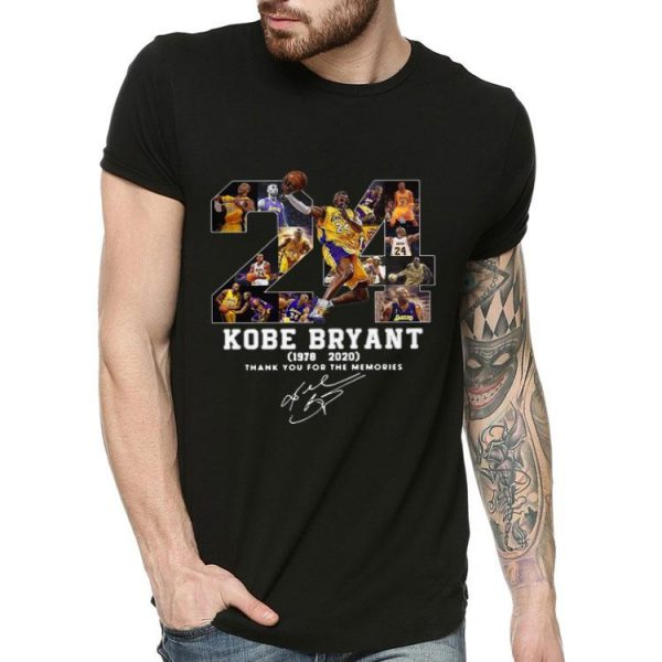 24 Lakers Kobe Bryant Thank You For The Memories Signatures shirt