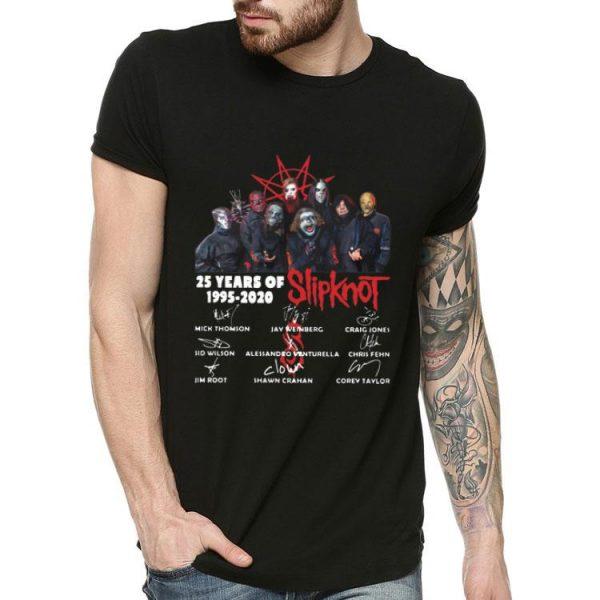 25 Years Of Slipknot 1995 – 2020 Signatures shirt