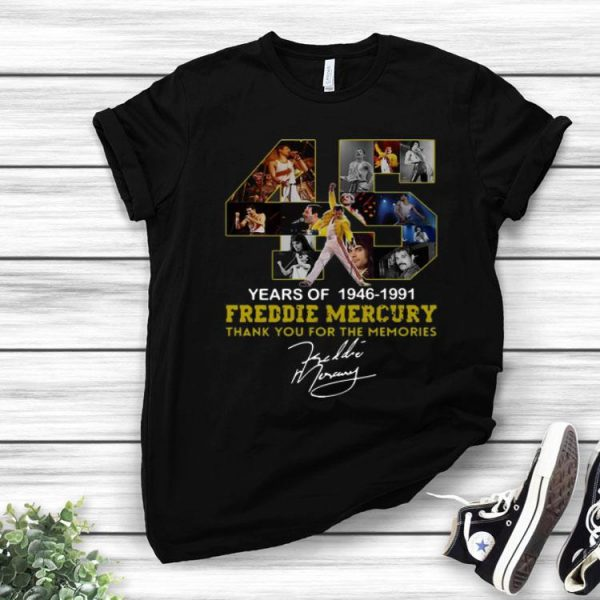 45 Years Of Freddie Mercury 1964 – 1991 Signature shirt