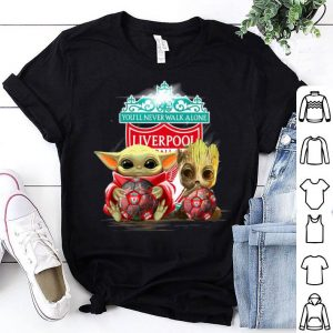 Baby Yoda And Baby Groot Liverpool You'll Never Walk Alone shirt