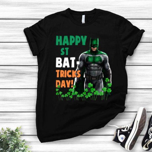 Bat Man Happy St Bat–Tricks Day Shamrock St. Patrick's Day shirt