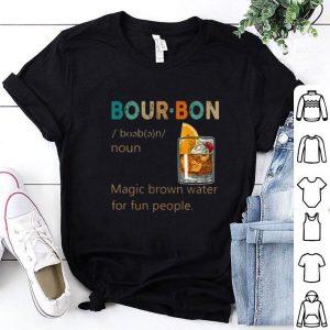 Cheap Bourbon Noun vintage Magic brown water for fun people shirt