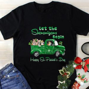 Cheap Corgi Let the Shenanigans begin truck happy St. Patrick's day shirt