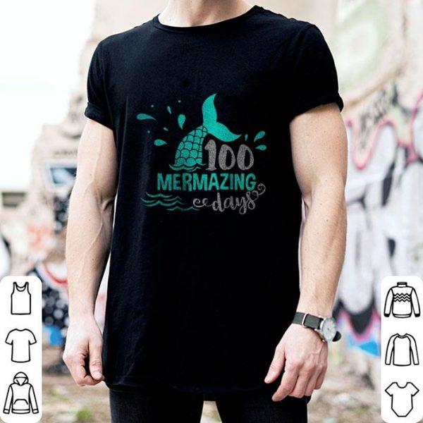 Funny Mermaid 100 Mermazing Days shirt