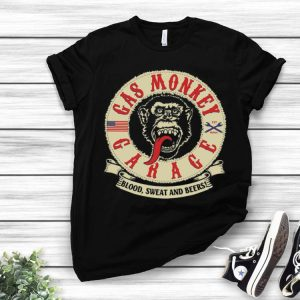 Gas Monkey Garage Blood Sweat And Beers American Flag shirt