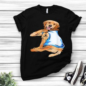 Golden Retriever Tattoo I Love Mom Mother's Day And Dog Lovers shirt
