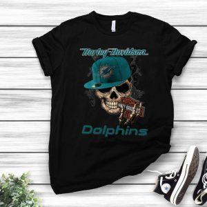 Motor Harley Davidson Cycles Miami Dolphins shirt