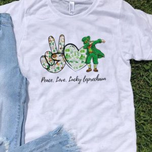 Peace Love Lucky Leprechaun St. Patrick's Day shirt