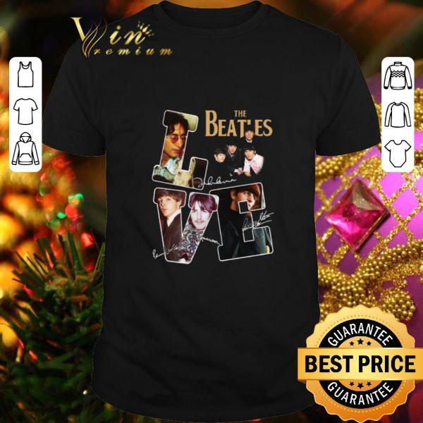 Premium Love The Beatles signatures autographed shirt