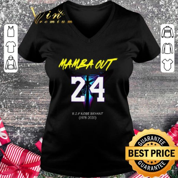 Premium Mamba Out 24 R.I.P Kobe Bryant logo Black Mamba 1978 2020 shirt
