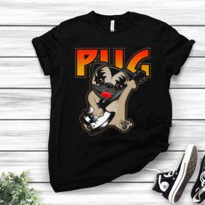 Pug Playing Guitar Kiss Rock Band shirt