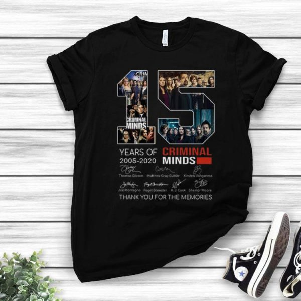 15 Years Of Criminal Minds Signature And Thank You For The Memories shirt