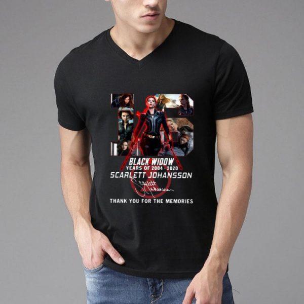 16 Years Of Black Widow Scarlett Johansson Signature shirt