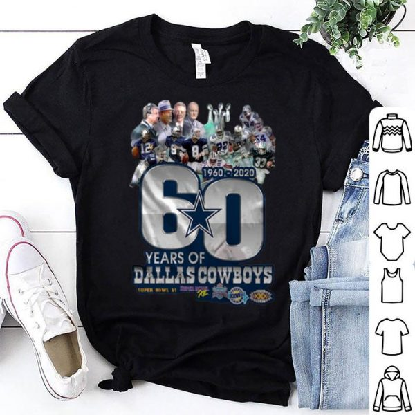 1960-2020 60 Years Of Dallas Cowboys shirt