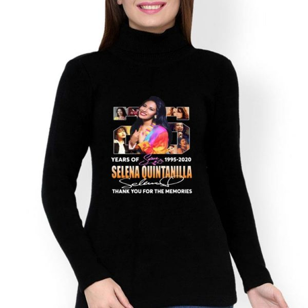 25 Years Of Selena Quintanilla Thank You For The Memories Signature shirt