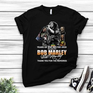 41 Years Of Bob Marley Thank You For The Memories Signature shirt