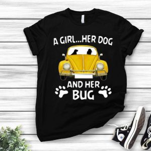 A Girl Her Dog And Her Bug Volkswagen Beetle Dog Lovers shirt