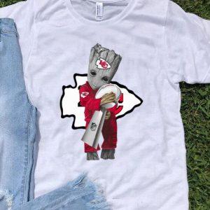 Baby Groot Hug Super Bow Champions Kansas City Chiefs shirt